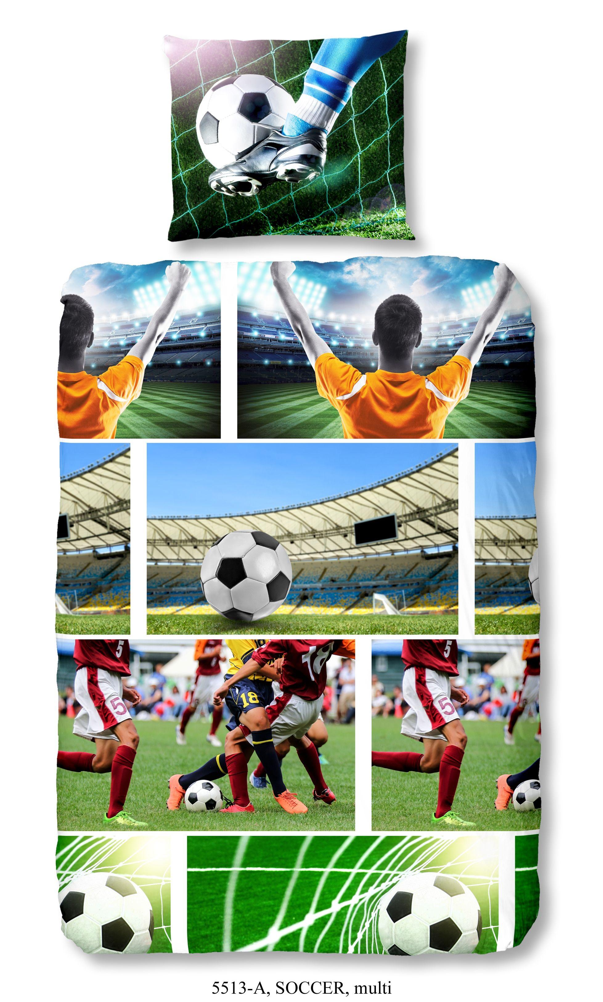 Dekbedovertrek voetbal Soccer
