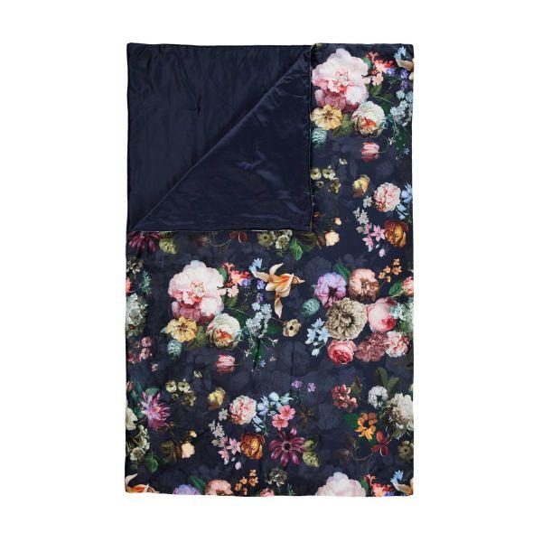 Plaid Essenza Fleur nachtblauw