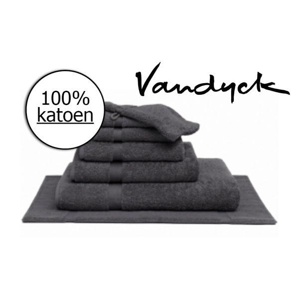 Handdoek Vandyck dark grey