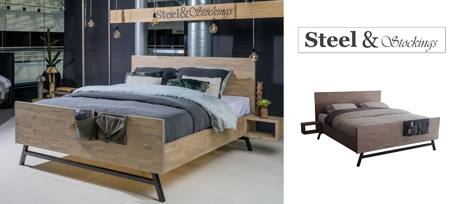 Steel Stocking bed Viggo